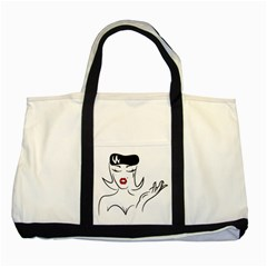 Pin Up Two Toned Tote Bag