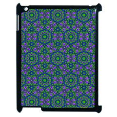 Retro Flower Pattern  Apple Ipad 2 Case (black)