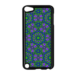 Retro Flower Pattern  Apple iPod Touch 5 Case (Black)