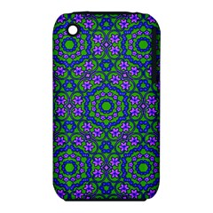 Retro Flower Pattern  Apple Iphone 3g/3gs Hardshell Case (pc+silicone)