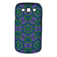 Retro Flower Pattern  Samsung Galaxy S III Classic Hardshell Case (PC+Silicone)