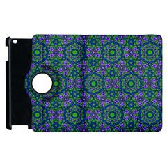 Retro Flower Pattern  Apple Ipad 3/4 Flip 360 Case