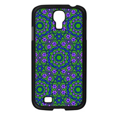 Retro Flower Pattern  Samsung Galaxy S4 I9500/ I9505 Case (Black)