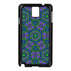 Retro Flower Pattern  Samsung Galaxy Note 3 N9005 Case (Black)