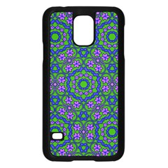 Retro Flower Pattern  Samsung Galaxy S5 Case (Black)