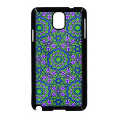 Retro Flower Pattern  Samsung Galaxy Note 3 Neo Hardshell Case (Black)