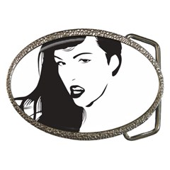 Pin Up Belt Buckle (Oval)