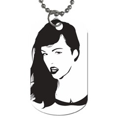 Pin Up Dog Tag (Two-sided)