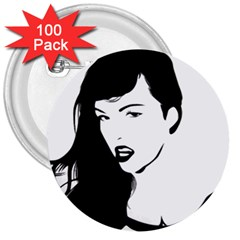 Pin Up 3  Button (100 pack)