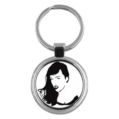 Pin Up Key Chain (Round)