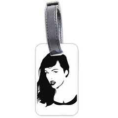 Pin Up Luggage Tag (Two Sides)