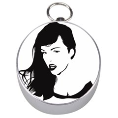 Pin Up Silver Compass