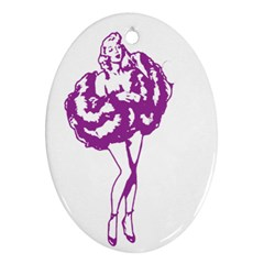 Pin Up Oval Ornament (Two Sides)