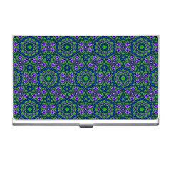 Retro Flower Pattern  Business Card Holder