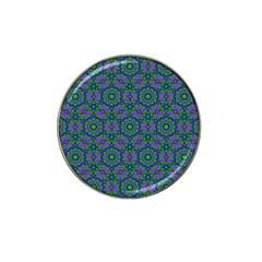Retro Flower Pattern  Golf Ball Marker 10 Pack (for Hat Clip)