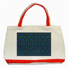 Retro Flower Pattern  Classic Tote Bag (Red)
