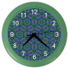 Retro Flower Pattern  Wall Clock (Color)