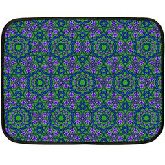 Retro Flower Pattern  Mini Fleece Blanket (Two Sided)
