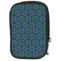 Retro Flower Pattern  Compact Camera Leather Case