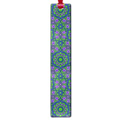 Retro Flower Pattern  Large Bookmark
