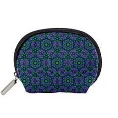 Retro Flower Pattern  Accessory Pouch (Small)