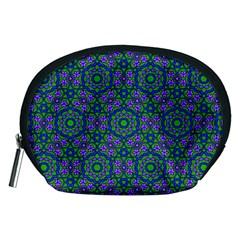 Retro Flower Pattern  Accessory Pouch (Medium)