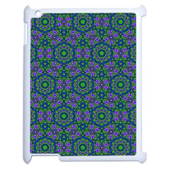 Retro Flower Pattern  Apple Ipad 2 Case (white)