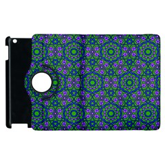 Retro Flower Pattern  Apple iPad 3/4 Flip 360 Case