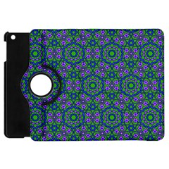 Retro Flower Pattern  Apple Ipad Mini Flip 360 Case