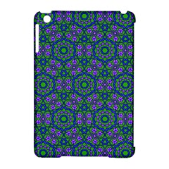 Retro Flower Pattern  Apple iPad Mini Hardshell Case (Compatible with Smart Cover)