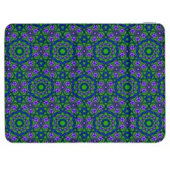 Retro Flower Pattern  Samsung Galaxy Tab 7  P1000 Flip Case
