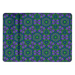 Retro Flower Pattern  Samsung Galaxy Tab 10 1  P7500 Flip Case
