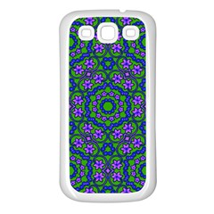 Retro Flower Pattern  Samsung Galaxy S3 Back Case (white)