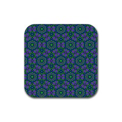Retro Flower Pattern  Drink Coaster (square)