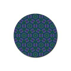 Retro Flower Pattern  Drink Coaster (Round)
