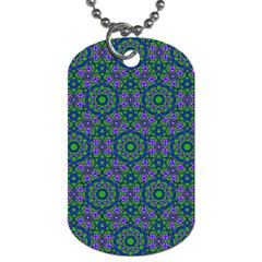 Retro Flower Pattern  Dog Tag (Two-sided)
