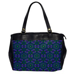 Retro Flower Pattern  Oversize Office Handbag (one Side)