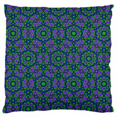 Retro Flower Pattern  Large Cushion Case (two Sided)