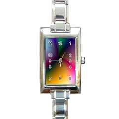 Prism Rainbow Rectangular Italian Charm Watch