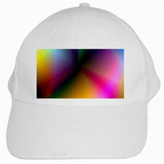 Prism Rainbow White Baseball Cap
