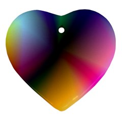 Prism Rainbow Heart Ornament
