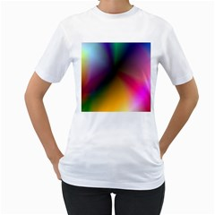 Prism Rainbow Women s Two-sided T-shirt (White)