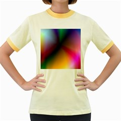 Prism Rainbow Women s Ringer T-shirt (Colored)