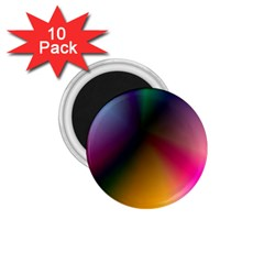 Prism Rainbow 1 75  Button Magnet (10 Pack)