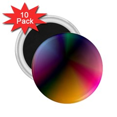 Prism Rainbow 2 25  Button Magnet (10 Pack)