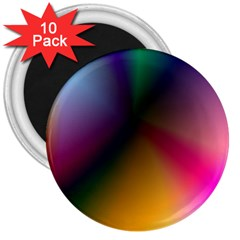 Prism Rainbow 3  Button Magnet (10 Pack)