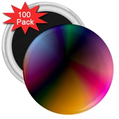 Prism Rainbow 3  Button Magnet (100 pack)