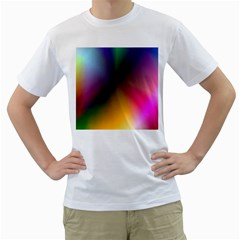 Prism Rainbow Men s Two-sided T-shirt (White)