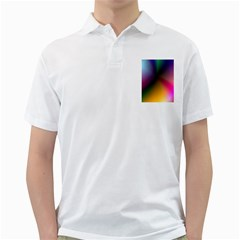 Prism Rainbow Men s Polo Shirt (white)