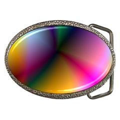 Prism Rainbow Belt Buckle (oval)
